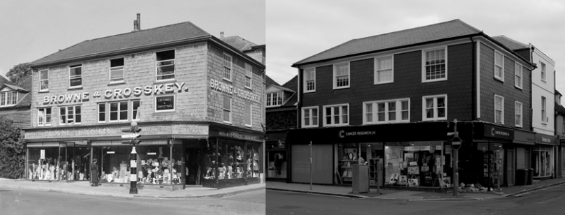 214 High Street in 1935 & 2014; images from ReevesArchive.co.uk